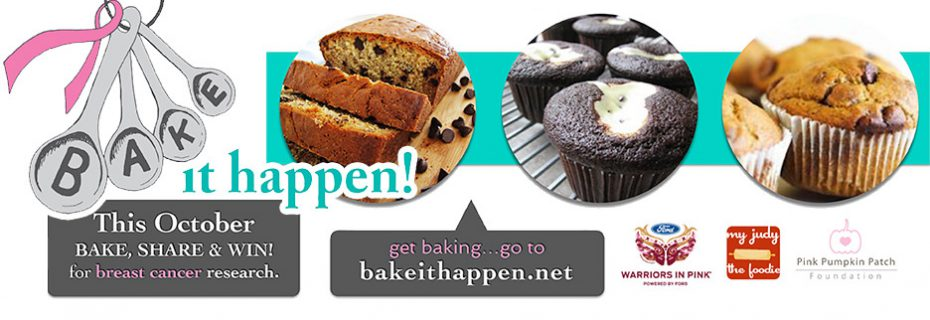 The Pink Pumpkin Patch Foundation is Teaming up with Bake it Happen for 2016